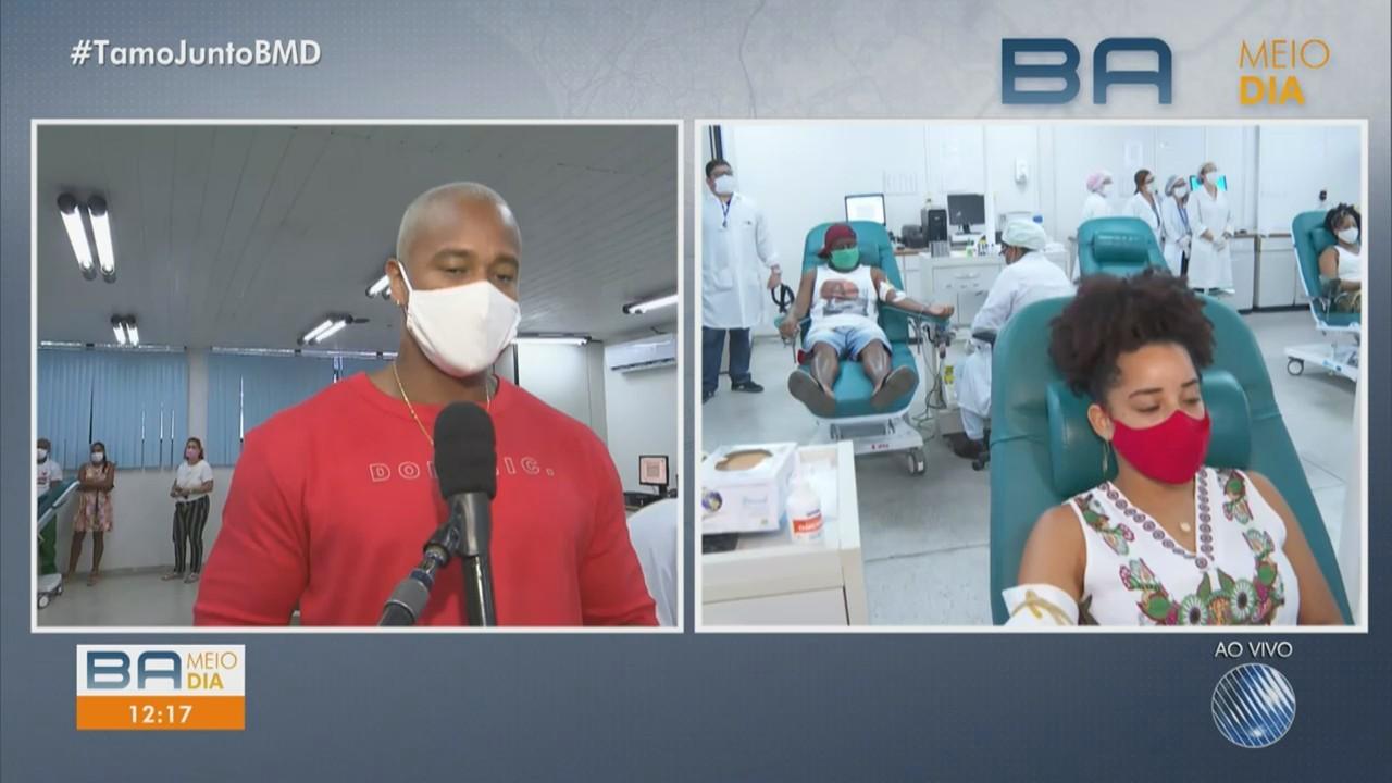 Bancos de sangue da Bahia enfrentam redução do estoque de bolsas e famosos fazem campanha
