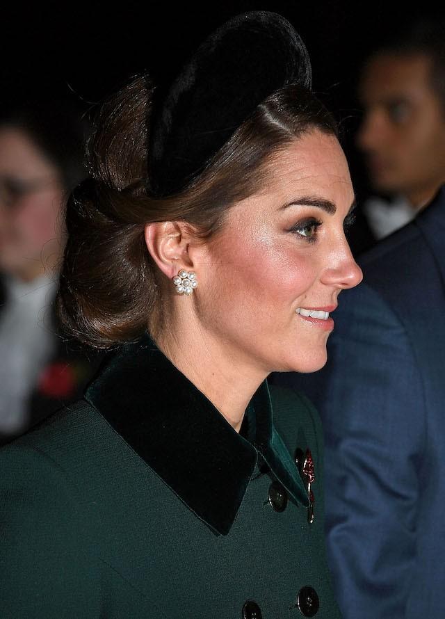 Kate Middleton na Abadia de Westminster durante a missa do Dia da Memória, em Londres (Foto: Getty Images)