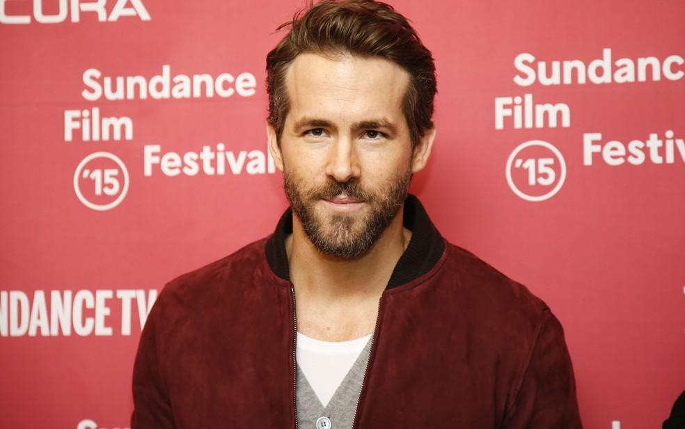 -  Ryan Reynolds , em 2015, durante a divulgação do filme  Mississippi Grind  no Festival de Sundance.  Foto: Danny Moloshok/Invision/AP