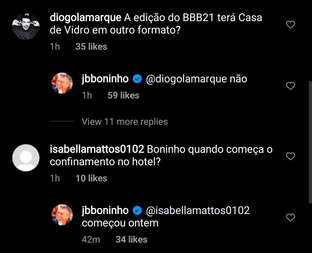 Boninho fala sobre BBB 21 (Foto: Reprodução/Instagram)