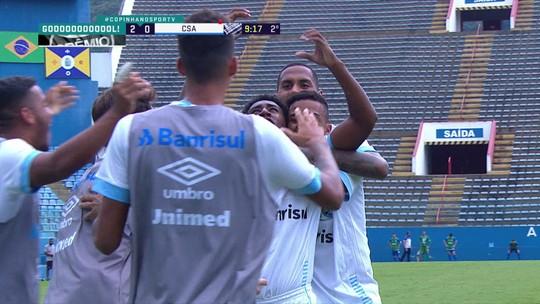Os gols de Grêmio 2 x 0 CSA pela Copa SP de futebol júnior