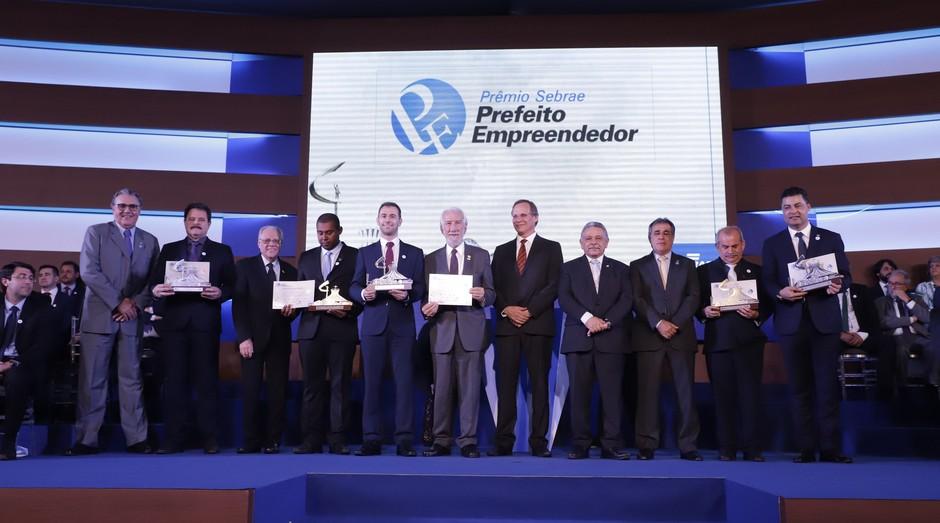 Cerimônia do Prêmio Sebrae Prefeito Empreendedor (Foto: Sebrae/Divulgação)