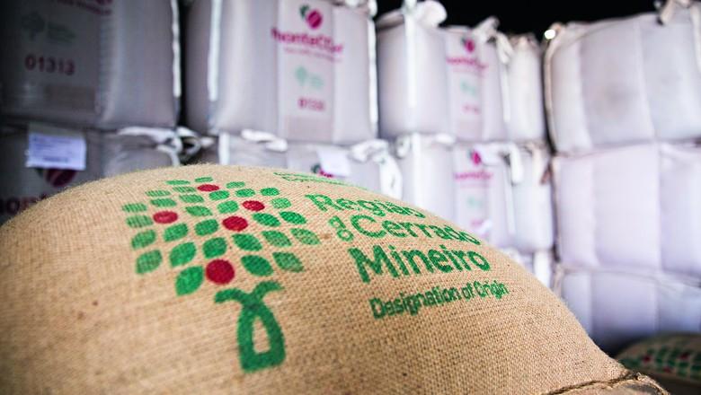 Sacas de café do Cerrado Mineiro (Foto: Foto: Anna Carolina Negri/Editora Globo)