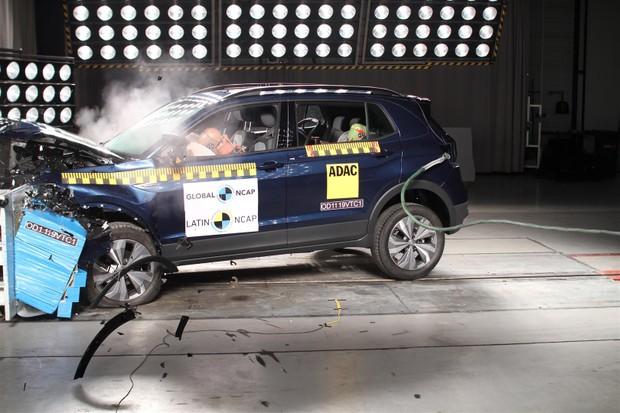 Volkswagn T-Cross ganhou cinco estrelas no Latin NCAP (Foto: Divulgação)