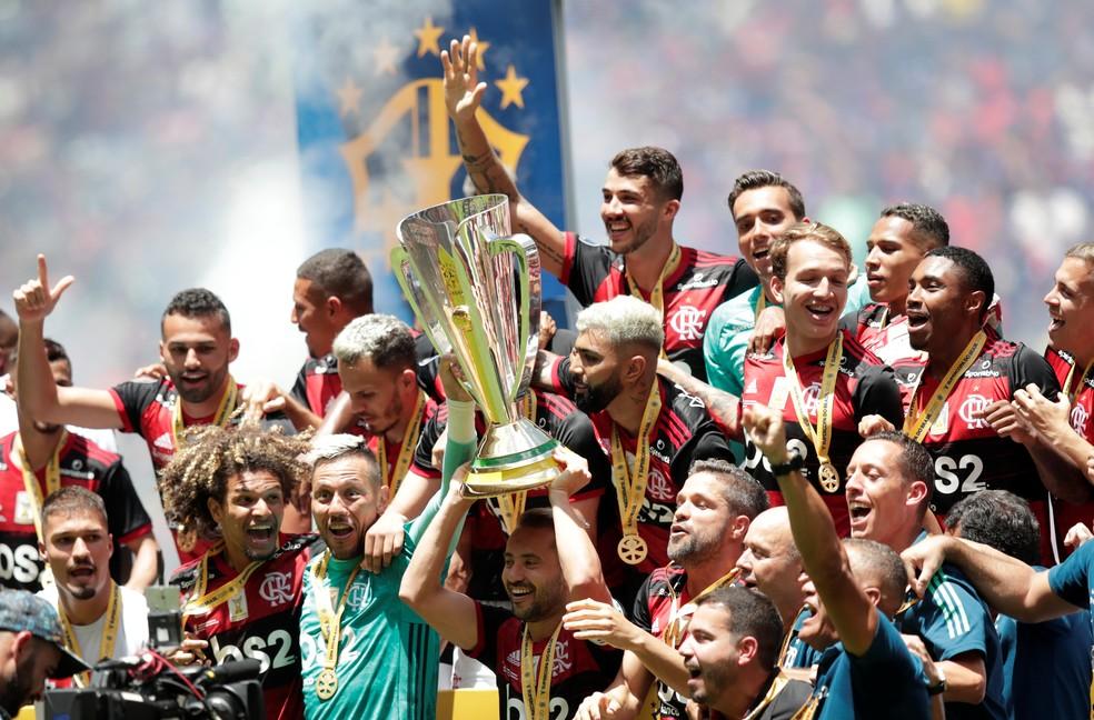 Flamengo campeão da Supercopa em 2020 — Foto: Ueslei Marcelino/Reuters