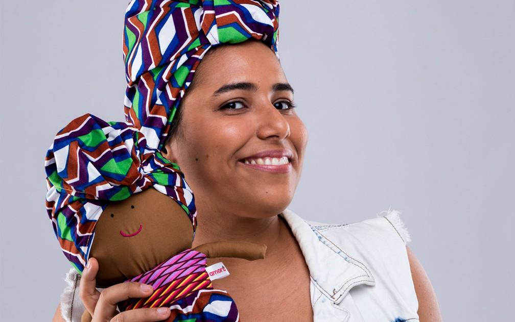 A baiana Geo Nunes é designer e criadora da Amora Brinquedos Afirmativos — Foto: Arquivo Pessoal/Amora Brinquedos Afirmativos