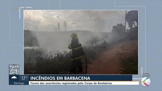 Tempo seco é marcado por diversos incêndios em vegetação na Zona da Mata e Vertentes