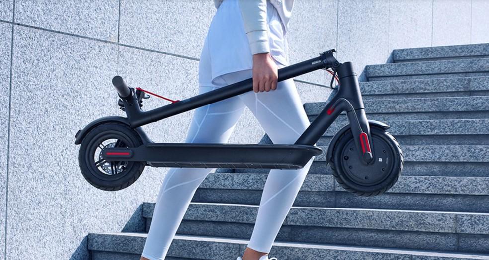 Mijia Electric Scooter 1S é a nova patinete dobrável da Xiaomi — Foto: Divulgação/Xiaomi
