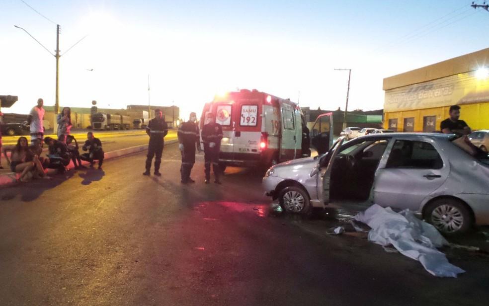 Vítimas foram atendidas pelo Samu (Foto: Ivonaldo Paiva/ Blog Braga)