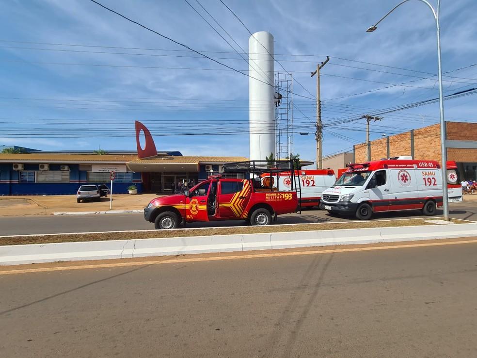Corpo de Bombeiros Militar de Três Lagoas montou operação para resgatar trabalhadores — Foto: CBM/Divulgação
