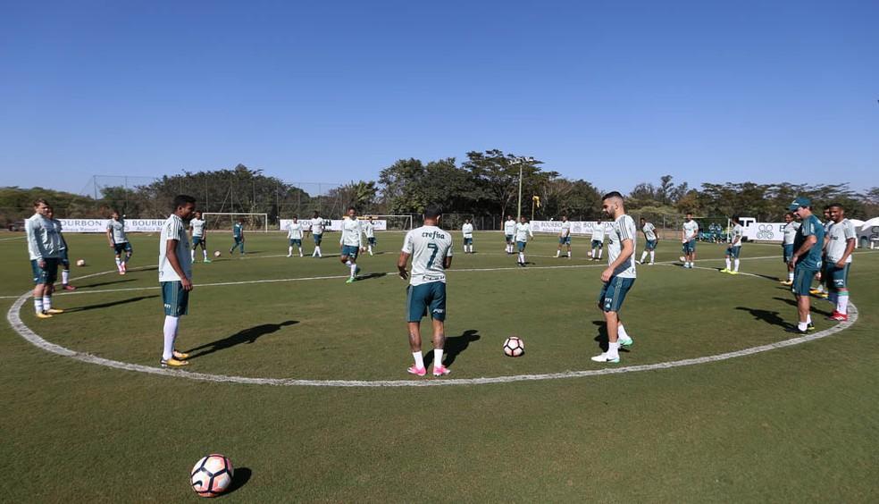 Palmeiras treinou em Atibaia antes da decisão  (Foto: Cesar Greco/Ag. Palmeiras)