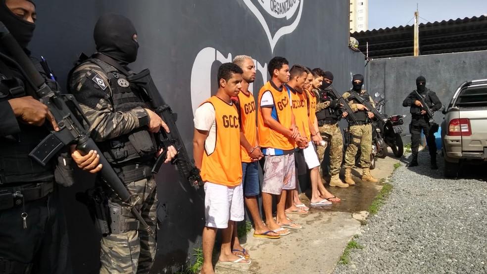 Operação Ômega 2 prendeu três pessoas e cumpriu mandados contra os dois que já estavam presos. — Foto: Leandro Trindade/TV Centro América