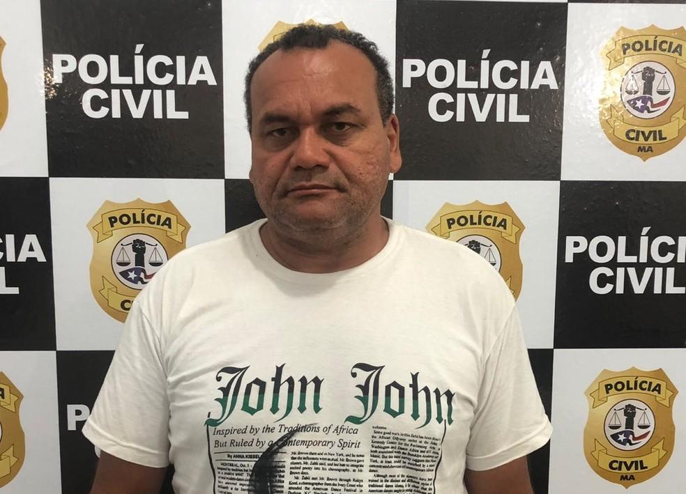 Adão Nascimento Carvalho foi encaminhado a Unidade Prisional de Ressocialização em Imperatriz onde ficará à disposição da Justiça — Foto: Divulgação/Polícia