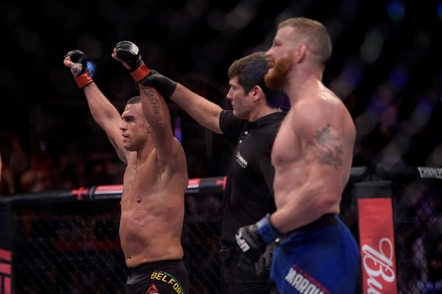 Vítor Belfort no UFC em 2017 (Foto: Divulgação)