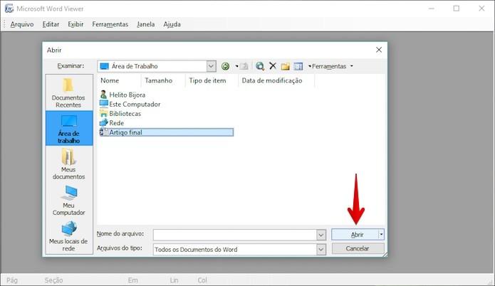 Como abrir documentos Word no formato  doc sem ter Office