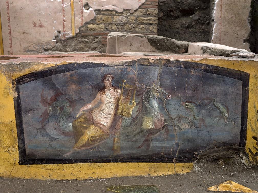 Descoberta foi feita em Pompeia, no sul da Itália — Foto: Parque arqueológico da Pompeia via AP