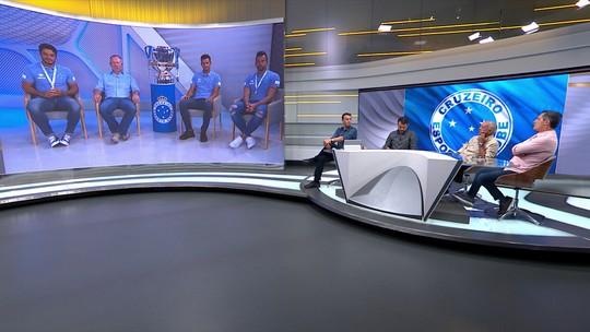 Mano Menezes, Fábio, Henrique e Léo, campeões pelo Cruzeiro, falam com o Seleção SporTV