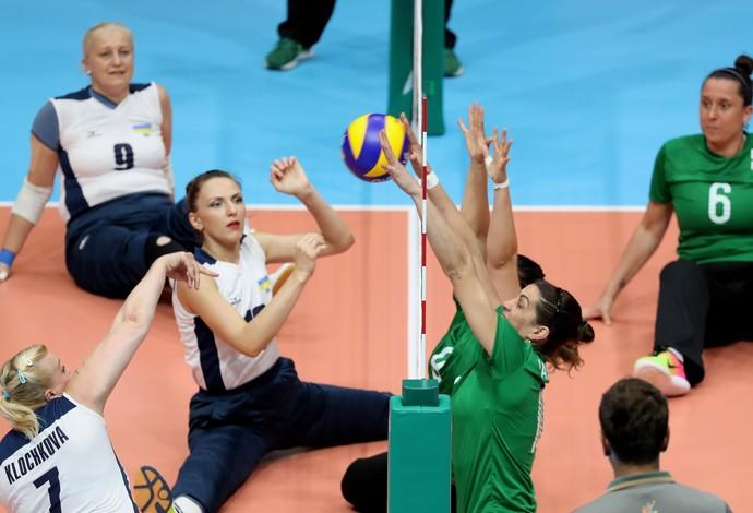 Seleção brasileira de vôlei sentado venceu a Ucrânia na Paralimpíada (Foto: Getty Images)