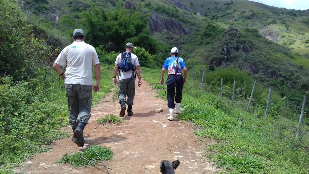 Técnicos do Inea visitam Reservas Particulares do Patrimônio Natural em Santa Maria Madalena, no RJ — Foto: Divulgação/Inea