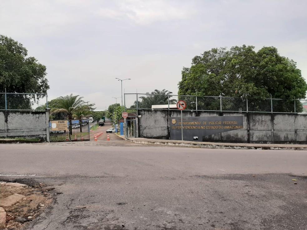 Superintendência da Polícia Federal em Manaus. — Foto: Eliana Nascimento/G1 AM