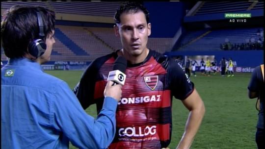 Adriano Alves lamenta virada sofrida pelo Oeste