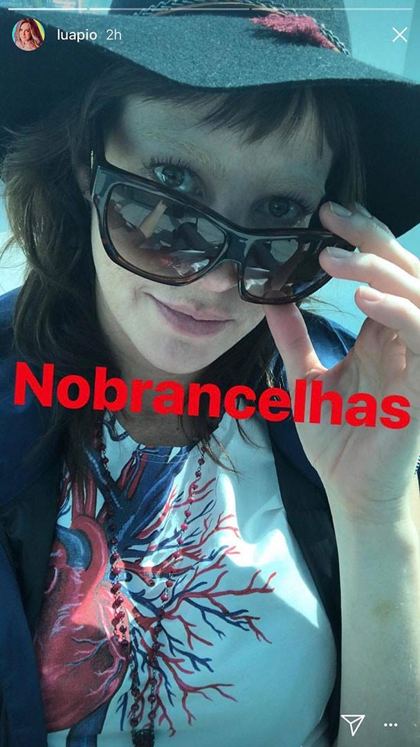 Luana Piovani descolore as sobrancelhas (Foto: Instagram/Reprodução)