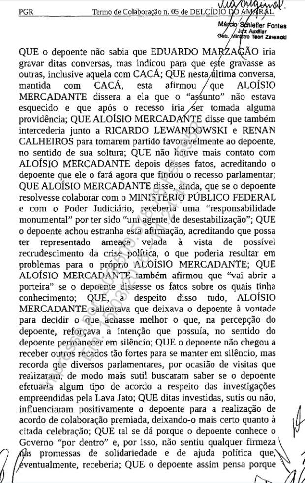 Termo de colaboração assinado por Delcídio pg. 4 620px (Foto: Reprodução)