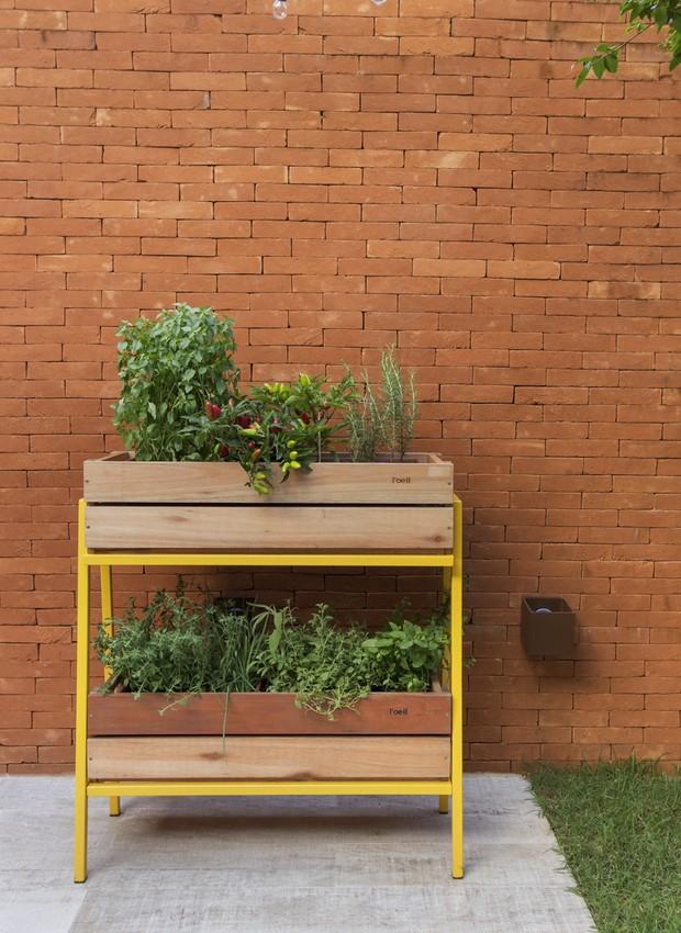 A horta portátil da The Original Farm tem a liberdade necessária para perseguir os raios de sol, que mudam de lugar ao longo do ano (Foto: Rafael Renzo/Divulgação)
