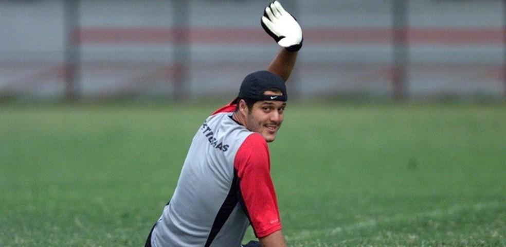 Julio Cesar começa a escrever seu adeus nesta quarta-feira (Foto: Flamengo.com.br)