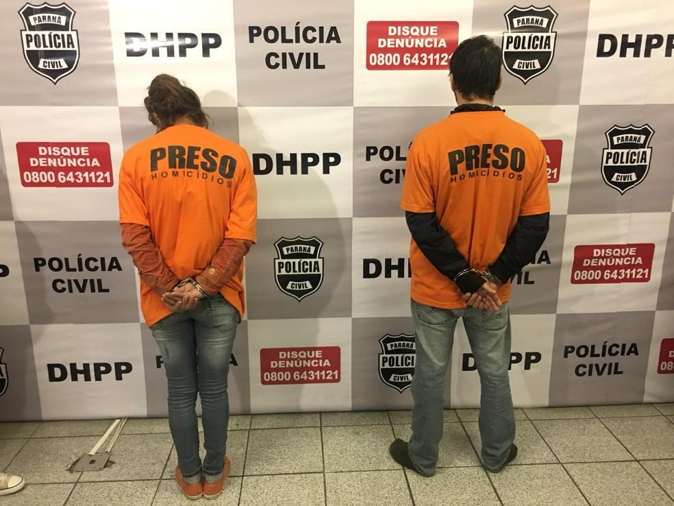 Duas pessoas foram presas e um terceiro suspeito por matar homem que foi encontrado dentro de um armário, em Curitiba, está foragido, segundo a Polícia Civil — Foto: Divulgação/Polícia Civil