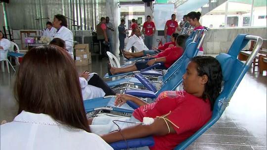 Evento para doação de sangue ocorre em Abreu e Lima, no Grande Recife