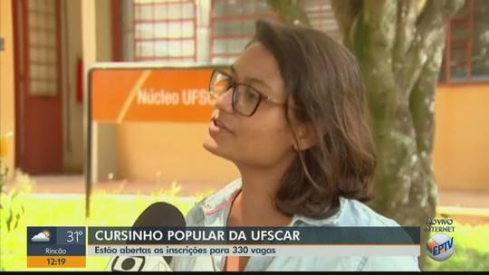 Cursinho pré-vestibular da UFSCar  tem inscrição para 330 vagas
