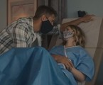 Justin Hartley (Kevin) e Madison (Caitlin Thompson) em 'This is us' | Divulgação