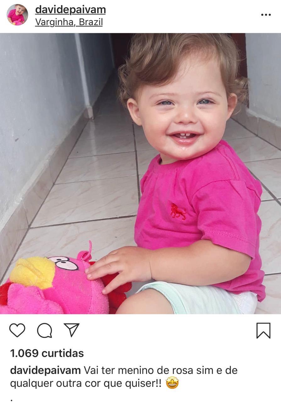 Vai ter menino de rosa sim (Foto: Reprodução Instagram)