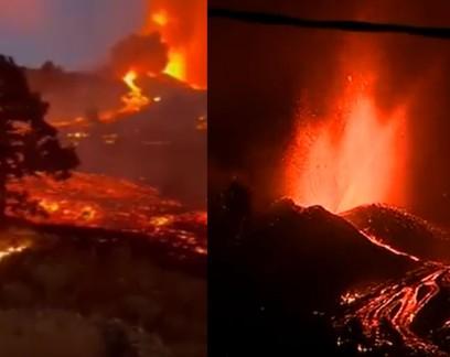 Vídeos mostram evolução da erupção em vulcão nas Ilhas Canárias; veja