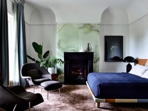 Décor do dia: quarto modernista com toque boho (Foto: Derek Swalwell)