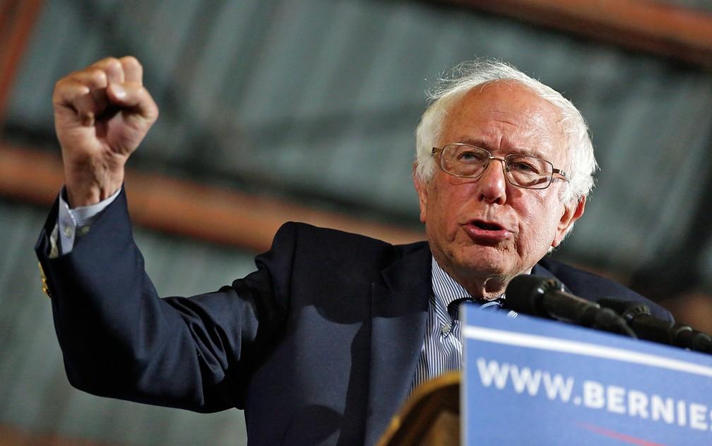 Bernie Sanders não jogou a toalha e segue com campanha nos EUA — Foto: Jonathan Alcorn / AFP Photo