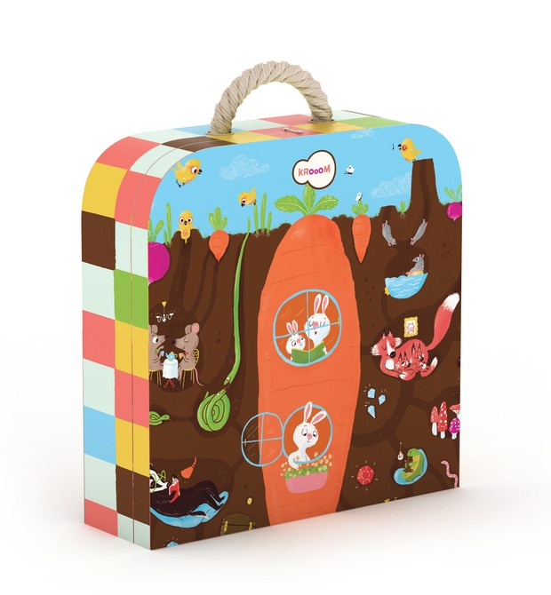 Quebra-cabeça na maletinha. Da Kroom, R$ 175 (Foto: Divulgação)
