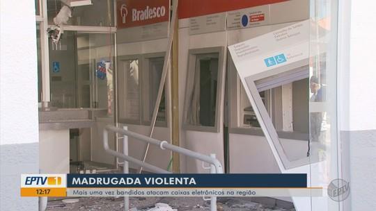 Criminosos atiraram contra casas antes de explosão de agência bancária em Careaçu, MG
