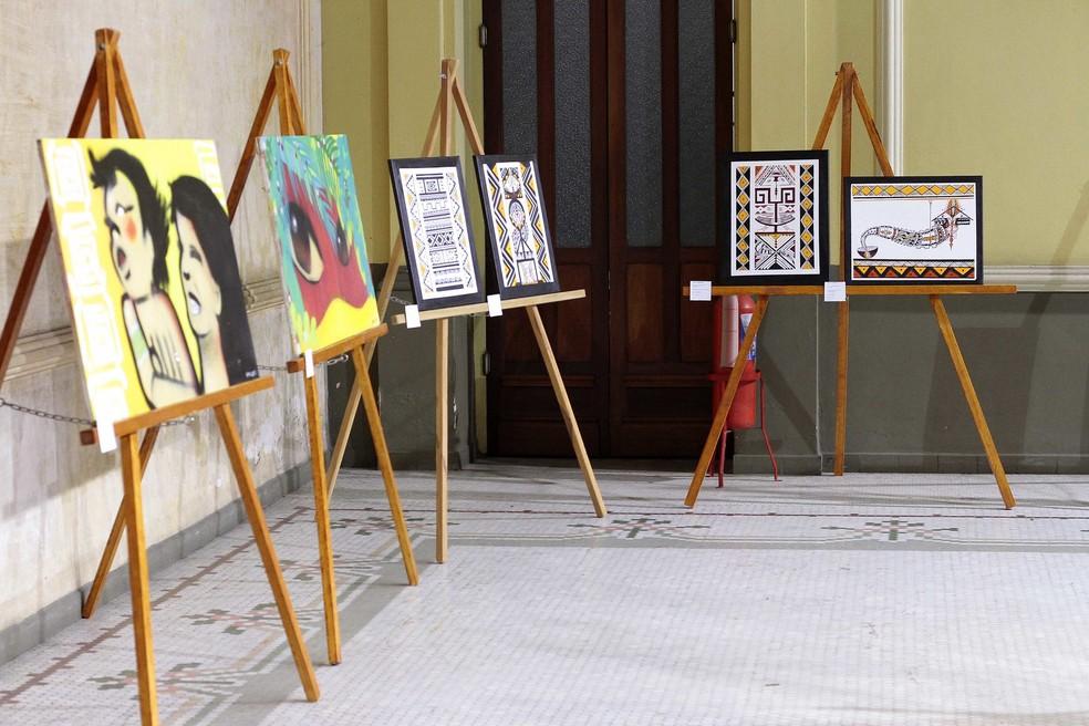 Mostra de Arte Indígena é realizada em Manaus — Foto: Divulgação