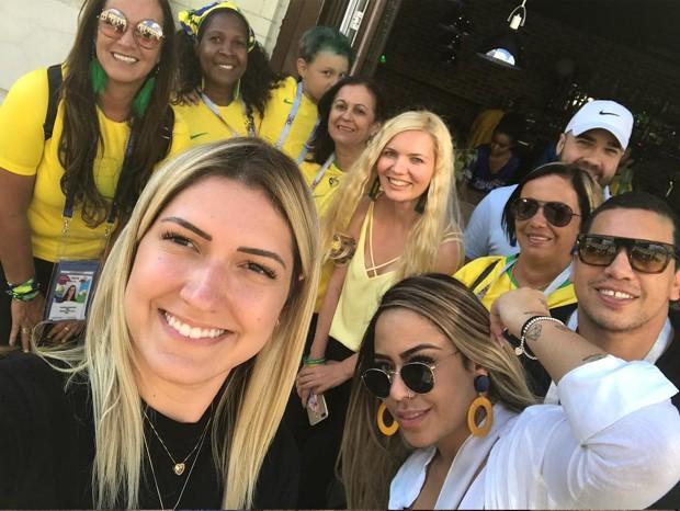 Nadine, mãe de Neymar, mostrou amigos e familiares a caminho do jogo (Foto: Reprodução Instagram)