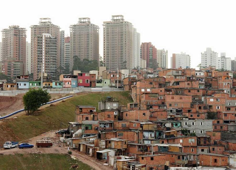 Vista parcial da favela de Paraisópolis — Foto: Glauco Araújo/G1