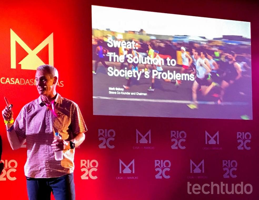 Mark Gainey, cofounder do Strava, no Rio2C 2019 — Foto: Pedro Vital/TechTudo