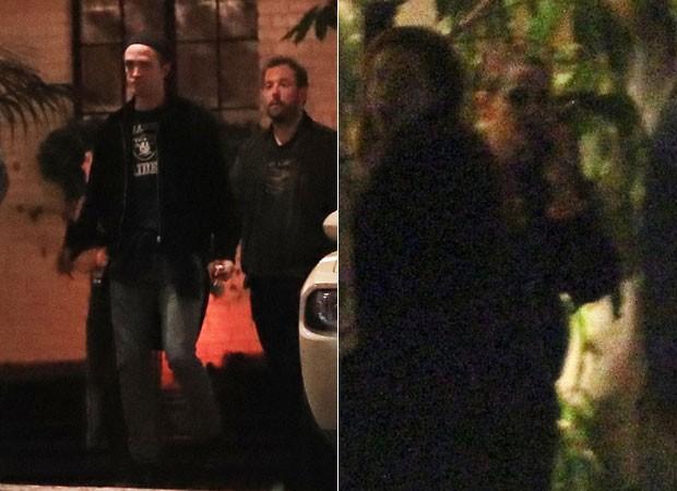 Robert Pattinson e Kristen Stewart são fotografados após um encontro (Foto: Backgrid)