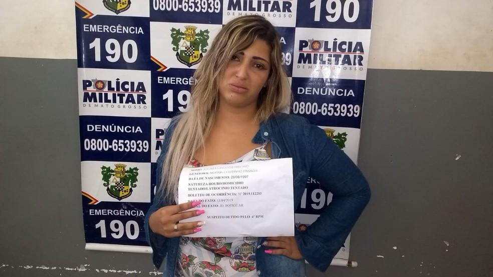 Jocasta Passos Ribeiro, de 21 anos. — Foto: PM-MT