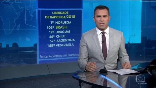 Brasil cai no ranking da segurança para o exercício da profissão de jornalista