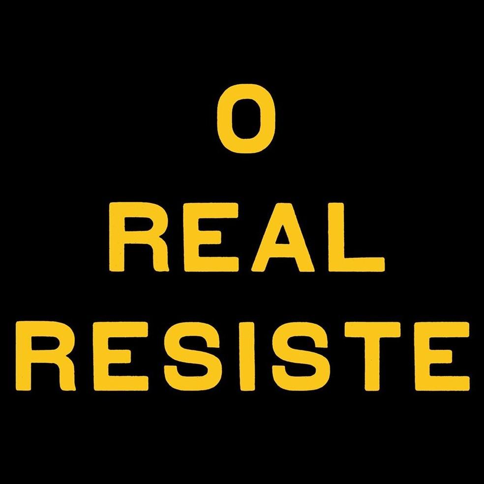 Capa do single 'O real resiste', de Arnaldo Antunes — Foto: Reprodução