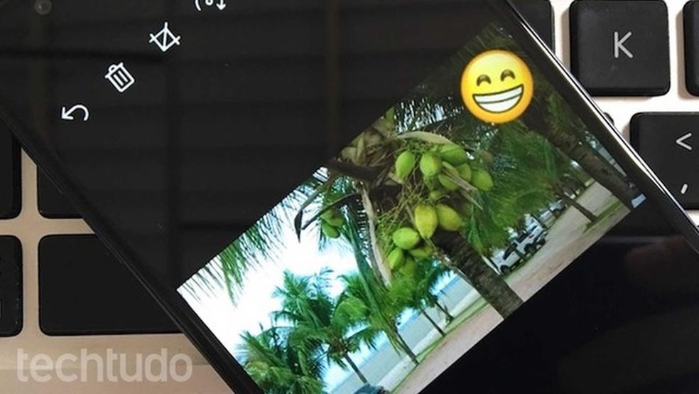 WhatsApp para Windows Phone 10 recebe upgrade para desenhos e emojis em fotos (Foto: Helito Bijora/TechTudo)
