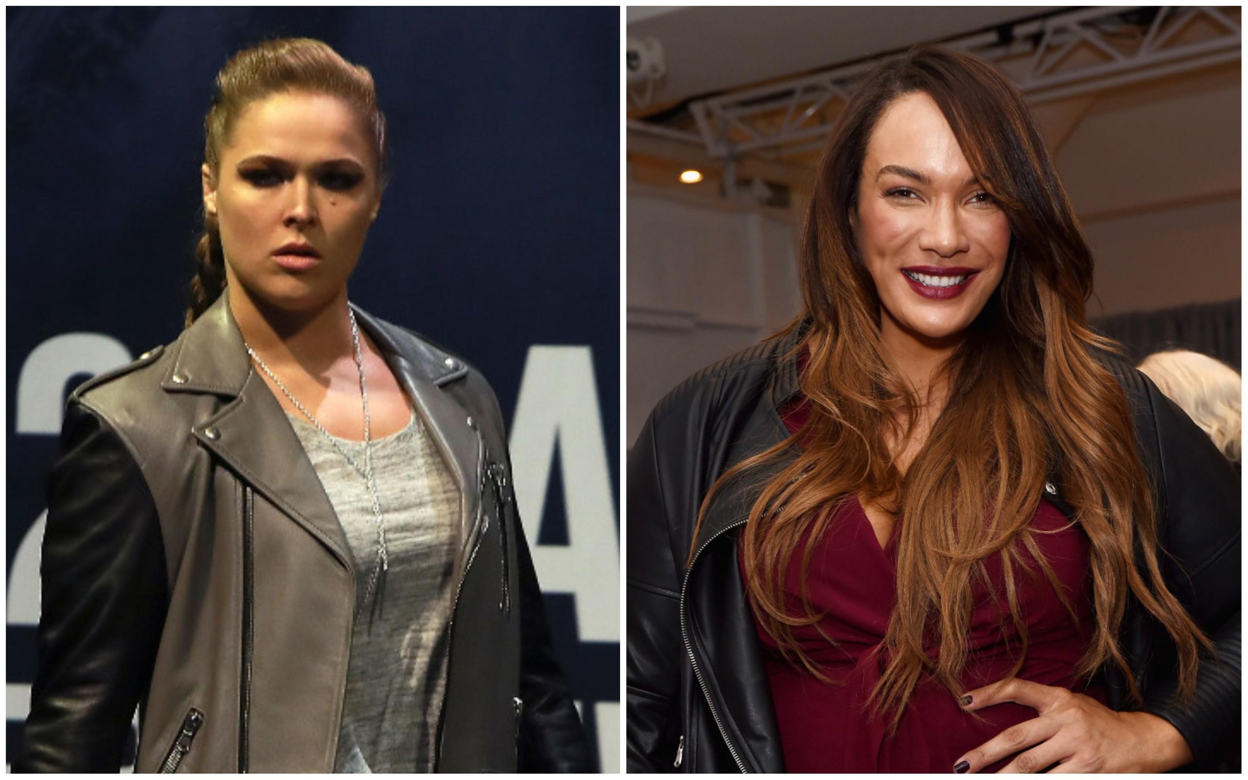 Ronda Rousey e Nia Jax (Foto: Getty Images)