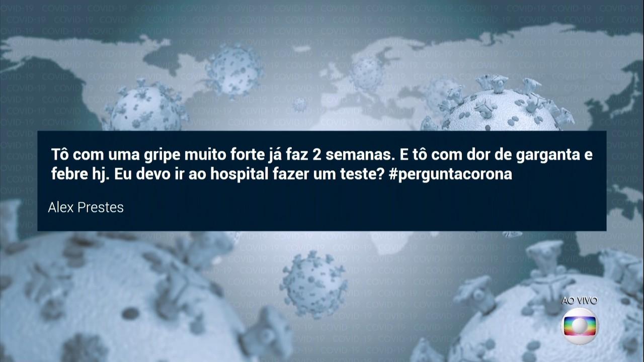 Casos de gripe sem sintomas do coronavírus não devem ser levados aso postos e hospitais